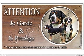 Panneau chien ou plaque Grand-bouvier-suisse 20 cm