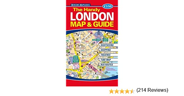 The Handy London Map And Guide Amazoncouk Bensons MapGuides - London map guide