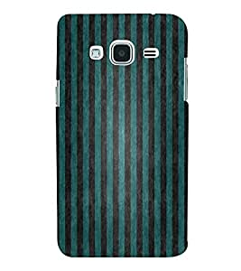 FUSON Green Vertical Strips Background 3D Hard Polycarbonate Designer Back Case Cover for Samsung Galaxy J2 (6) 2016 J210F :: Samsung Galaxy J2 Pro (2016)