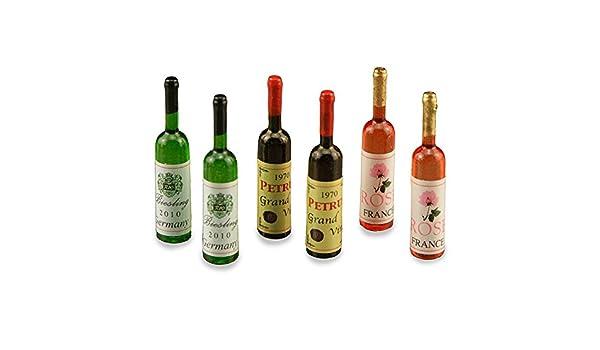 6 Weinflaschen f/ür das Puppenhaus