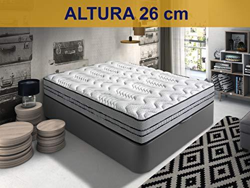 Relaxing-Confort Colchon de 90x190 viscoelastico-Grafeno, Espuma