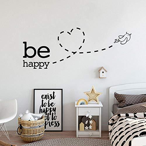 Applique Kunst (Wandtattoos Wandbilder Kinderzimmer Schlafzimmer Dekoration Familie Kunst Applique Tapete Entfernbare Aufkleber Für Glückliche Fliegende Vögel)