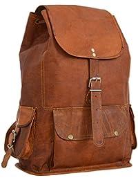 "Rucksack Gusti Leder ""Bobbie 15"" Lederrucksack Ledertasche Vintage Outdoor Retro Style iPad-Tasche Unirucksack Backpack Groß Braun Damen Herren M56b"