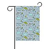 Dozili Flagge Regenschirm Muster Home Dekoration Garten Flagge wetterfest & doppelseitig Hofflagge, Polyester, bunt, 28