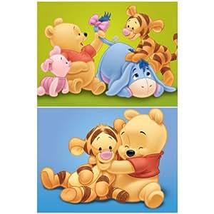 2er set baby winnie pooh bilder auf keilrahmen 30x40 - Keilrahmen kinderzimmer ...
