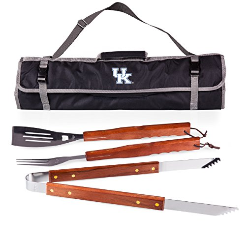NCAA Kentucky Wildcats 3-Piece BBQ Tool Set With Tote -