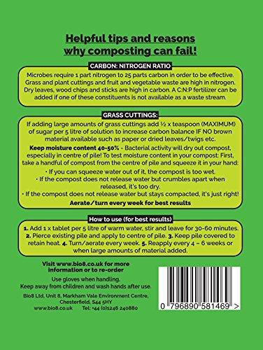 comprare on line Envii Compost Accelerator - Il trattamento batterico aumenta il processo di compostaggio - 12 compresse prezzo