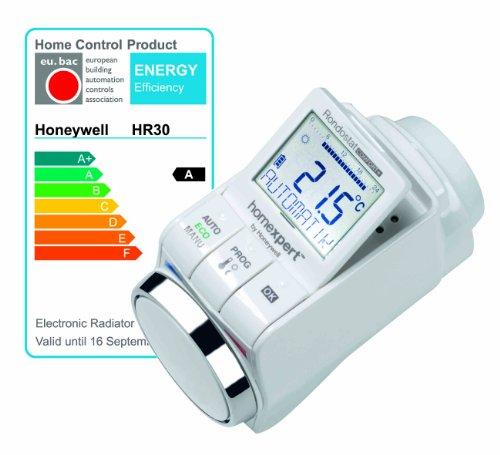 homexpert by honeywell hr30 termostato radiatore programmabile comfort. Black Bedroom Furniture Sets. Home Design Ideas