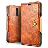 SLEO Case for LG Q7/Q7 Plus/Q7 Alfa Case, Retro PU Leather