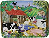 Churchill's Farmyard Tin with Natural Jelly Babies and Natural Jelly Beans 300 g