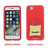 iPhone 6s Custodia, TPU unico progettato morbido Shell Skin iPhone 6 Case, Cartoon Copertura iPhone 6 / 6S 4.7 pollici ( rosso 3D Pomodori ), Durable Case Resistente agli urti di polvere