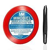 MMOBIEL 5mm Cinta adhesiva fuerte de acrílico doble cara para montaje, Largo: 30m Resistente a la intemperie y Removible