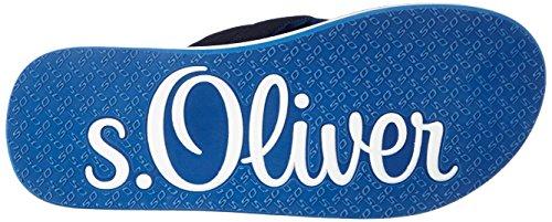 s.Oliver Herren 17108 Zehentrenner Blau (NAVY/TURQUOISE 880)