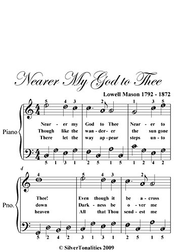 Nearer My God To Thee Easy Piano Sheet Music (English Edition)