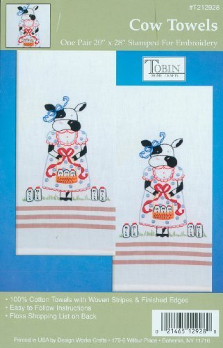 Stamped Embroidery Kitchen Towels (20\