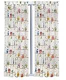 Vorhang Set Eule 2 Schals 245 cm x 140 cm
