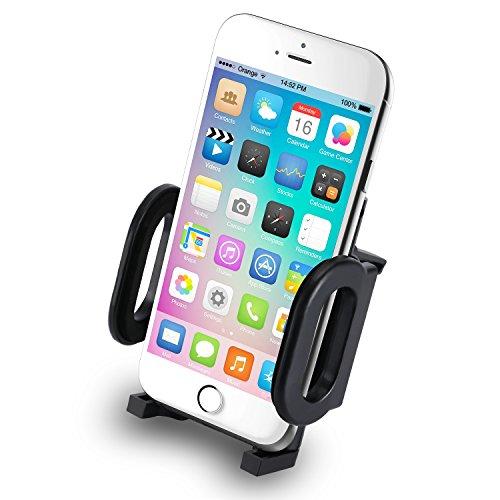 Incutex Universal KFZ Handy Halterung Autohalterung Lüftungsschlitz geeignet für iPhone 6, 6s, 6 Plus, 5s, 4s, Samsung Galaxy S6, S6 Edge, S5 u.v.m. (Galaxy 4s Handy)