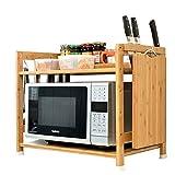 Küche Regal Mikrowelle Mehrschicht-Lagerregal Regal Regal Ofenregal Bambus