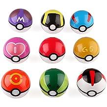 VERY100 9piezas Bolas de Pokéball Pokemon Poke JUGUETE/MEMORIA/IMAGINACIÓN para los niños