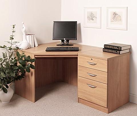 SET-07-IN-CO Classic Oak Drawer Desk Filing Cabinet Living Room Corner Table Home Office Furniture UK Wooden Effect Sets Bookcase Design On Wall Large Files Low Combo Children