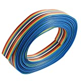 7M 1,27mm 16 Pin Arco Iris Cinta Cable Plano IDC Pincha DIY