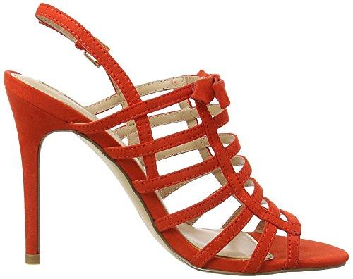 Miss Selfridge 51c33ured, Strap Alla Caviglia Donna Red (Red)