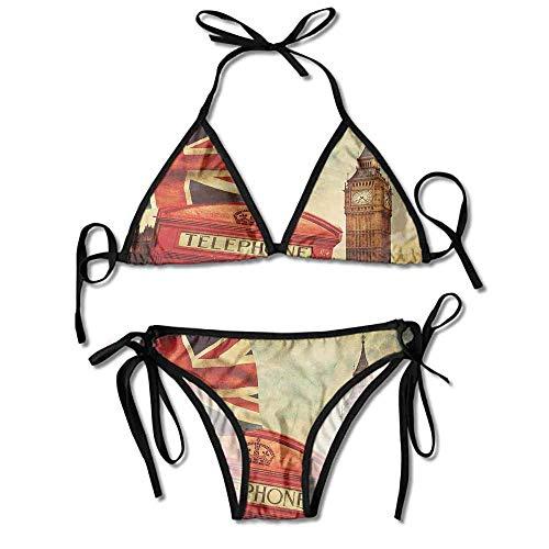 Two Pieces Bikini Swimsuit,London with National Flag Sexy Bikini 2 Pieces