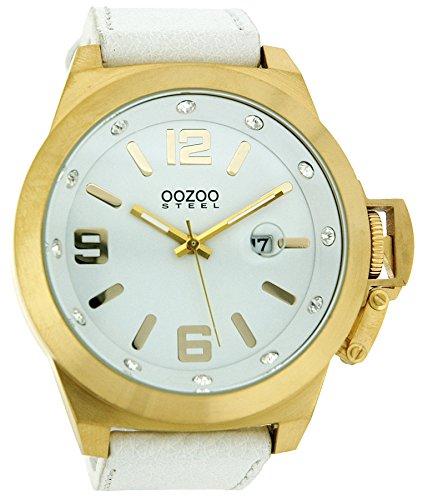 Oozoo Steel OS0137 XXL Herrenuhr goldfarben - 50 mm