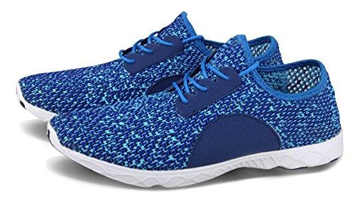 Santiro Le Glissement De l'homme Sur Sneaker Mesh Upper Entraîneur Chaussures Bleu Marine