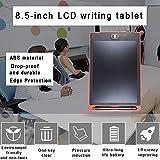 Almohadilla del Robot Tableta de Escritura LCD de 8,5 Pulgadas Tabletas de Escritura electrónicas Tablero de Dibujo Regalos para niños Pizarra de Oficina (Rosa con Estuche)