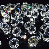 facettenschliff,synthetisches Kristallglas 1 Glasdiamanten blau-grün 12 mm Ø