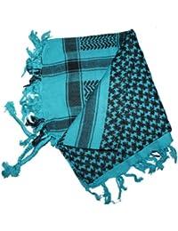 Kult Schal ! Palästinenser- / Pali-Baumwoll Tuch, 100x100cm, Farbe: türkis/schwarz