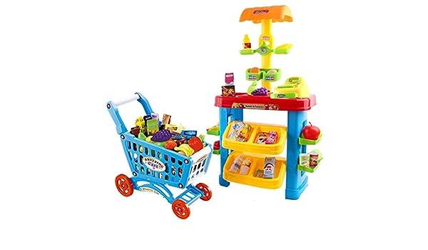 Supermercato Mini Super Store Con Carrello Bilancia Scanner