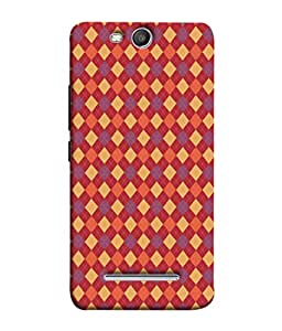 PrintVisa Square Biscuit 3D Hard Polycarbonate Designer Back Case Cover for Micromax Canvas Juice 3 Q392