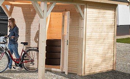 Weka Lagerraum für Leimholz-Carports Größe 2