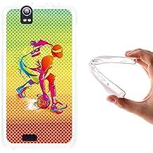 WoowCase - Funda Gel Flexible { Kazam Trooper 450 } Jugador de Baloncesto Multicolor Carcasa Case Silicona TPU Suave