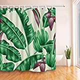 KKY-ENTER Tenda di doccia bagno in banana da banco di moda creativa Tenda di doccia in poliestere impermeabile e anti-muffa ( dimensioni : 180*210cm )