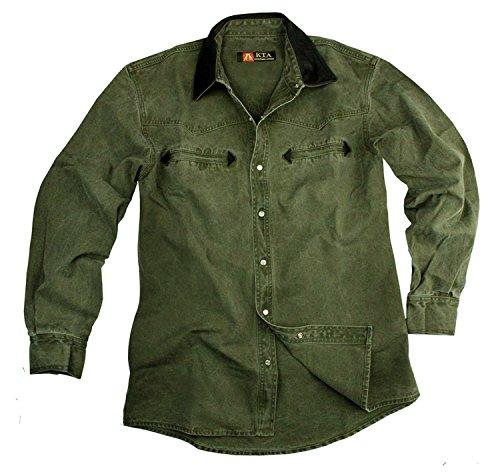 Kakadu Traders Herren Western Hemd Nashville Loden Grün XXX-Large Sonderposten - Western Hemd-jacke
