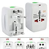 #6: Tavakkal® All in One Universal Power Adapter Worldwide Travel Adapter