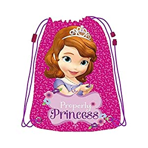 51Eh3Xdg70L. SS300  - Fantasy Princesa Sofía Saco-Mochila, 32 x 42 cm, Color Violeta