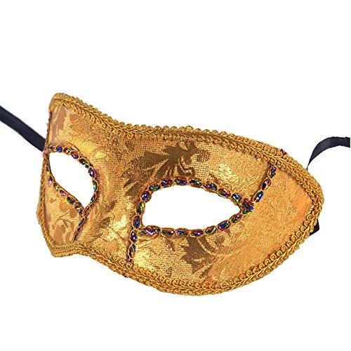 YUYU Kostüm-Party-Ideen gedruckt Leder halbe Gesichtsmaske (5) , (Kostüme Halloween Maskerade Ideen)