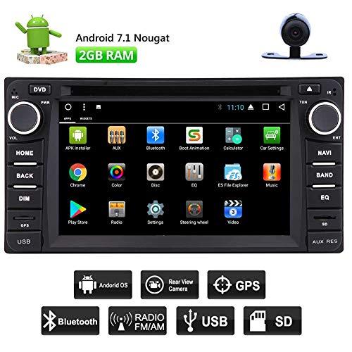 EINCAR Double 2 Din Android 7.1 Auto-DVD-Spieler Octa-Core-2G + 32G Auto-Stereo-Radio 6.2 Zoll-1080P im Schlag GPS-Sat Navigation Unterstützung Lenkrad Bluetooth WiFi 4G Mirrorlink + Rückfahrkame Toyota Sat-radio