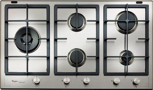 Whirlpool GMF 9522/IXL Plaque – Plaque (intégrée, gaz, acier inoxydable, rotatif, partie supérieure avant, 230 V)