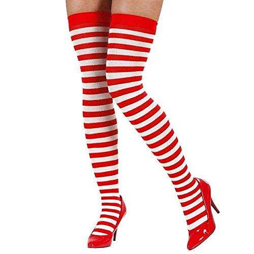 """Kostüm Geek Lady - Damen-Kostüm, """"Wo ist Walter?""""-Verkleidung, rot und weiß gestreift Gr. Einheitsgröße: Regulär, Ladies Socks Only"""