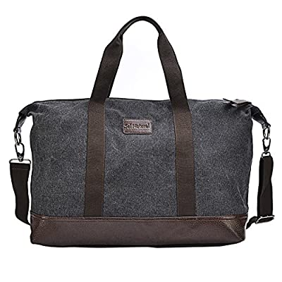 Sel Natural Weekend Travel Bag, Lightweight Hand Luggage, Mens large Canvas Holdall