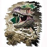 JUNMAONO 3D Dinosaurier Wandaufkleber/Abnehmbare Wandbild Aufkleber/Wandgemälde/Wand Poster/Wandbild Aufkleber/Wandbilder/Wandtattoo/Pinupbild/Beschriftung/Pad einfügen/Tapete/Tapezieren/Tapeten/Wand Zeitung/Wandmalerei Haftnotiz/Fühlen Sie sich frei zu kleben/Instant Aufkleber/3D-Stereo-Wandaufkleber