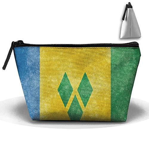 Flagge von St. Vincent und die Grenadinen Portable Make-up erhalten Tasche Speicherkapazität Taschen für die Reise mit hängendem Reißverschluss