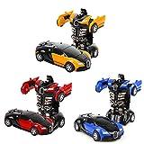 Egosy 3 Pièces Transformateur Robot Voiture Télécommande Transformateurs Voiture & Robot Transformable Mur Climber Car avec LED Et Rotation 360 ° Stunt Car Rc Toy Car pour Enfants Kid Cadeau