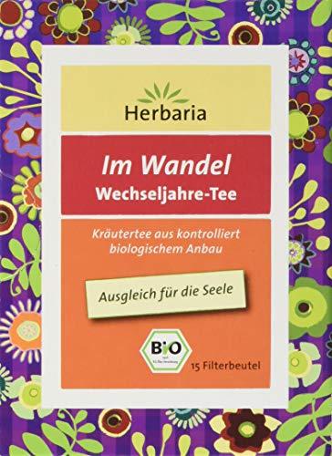 """Herbaria \""""Im Wandel Wechseljahre Tee\"""" 15FB BIO Kräutertee aus kontrolliert biologischem Anbau Zum Ausgleich für die Seele, 1 Pack ( 24 g)"""