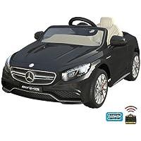 Mercedes-Benz S63 AMG Cabriolet Ride-On 12V Elektro Kinderauto Kinderfahrzeug Kinder Elektroauto (Schwarz)